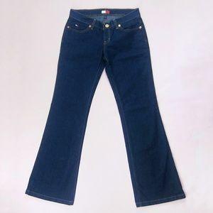 Y2K Tommy Hilfiger Flare Jeans Dark Wash sz 5
